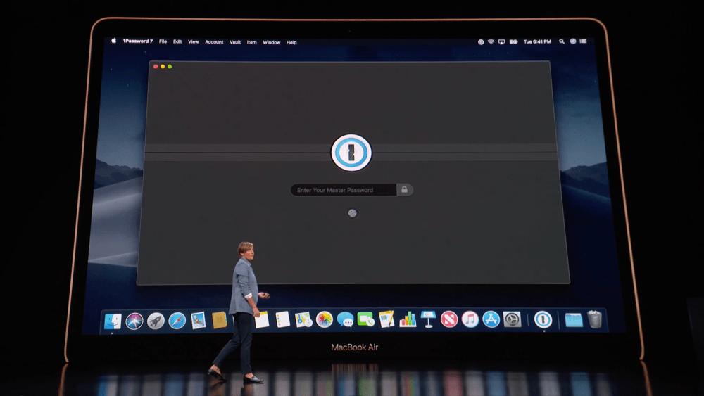 1Password appearing on stage at the event