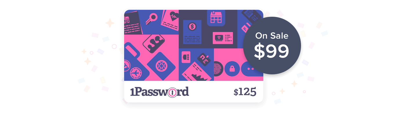 $125 1Password Gift Card