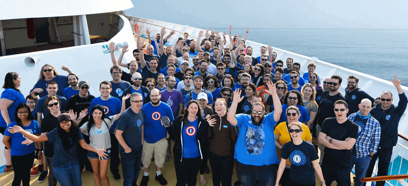 Our team at our annual cruise.