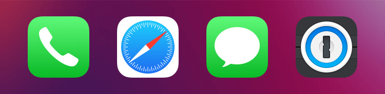 Choose your 1Password icon