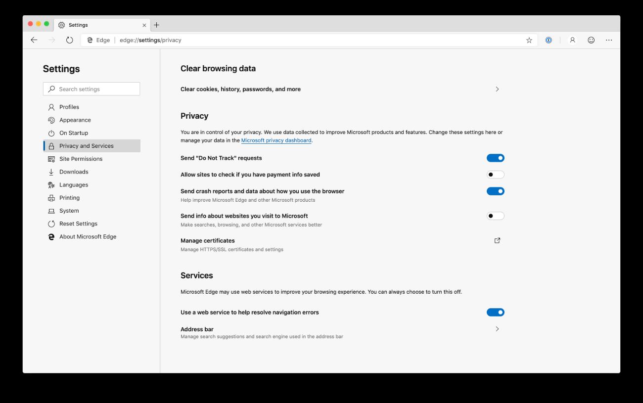 Taking a peek at Microsoft Edge for Mac | 1Password