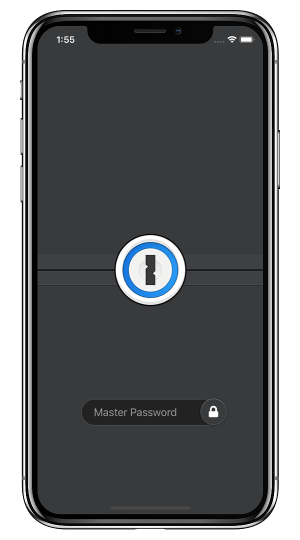 1Password in dark mode on iOS 13