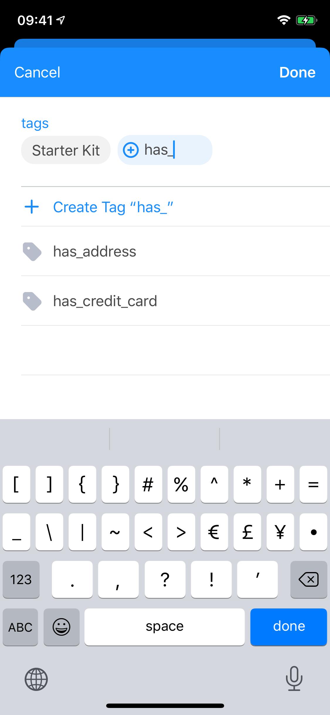 Create new tag