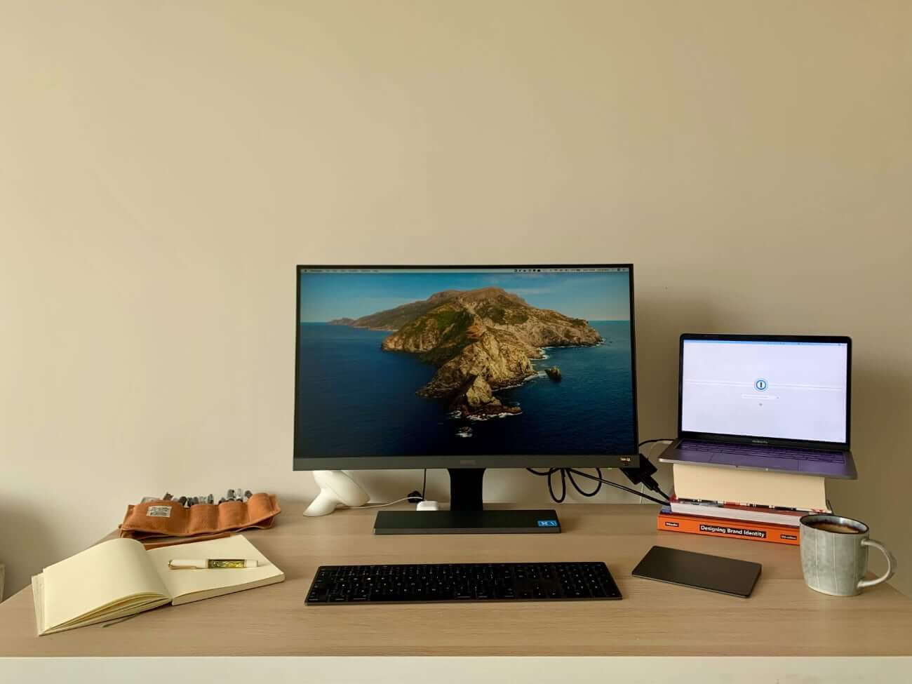 Image of Lily's work from home setup