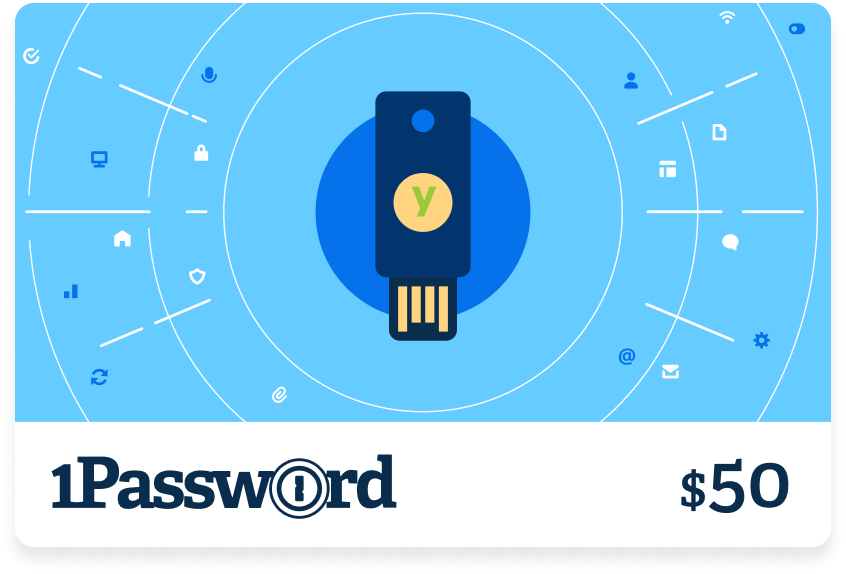 1password and yubico gift card